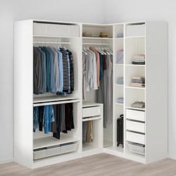 PAX - Lemari pakaian sudut, putih