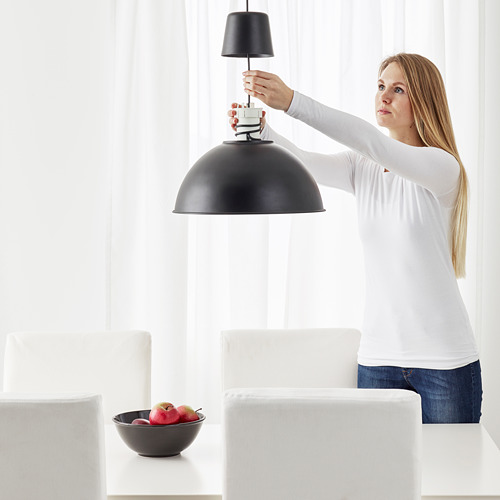 SKURUP - pendant lamp, black, 38 cm | IKEA Indonesia - PE681112_S4