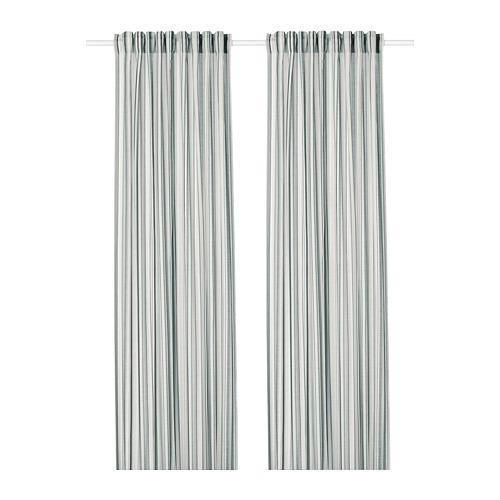 PRAKTKLOCKA curtains, 1 pair
