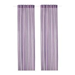 PRAKTKLOCKA - Gorden, 1 pasang, ungu/garis-garis