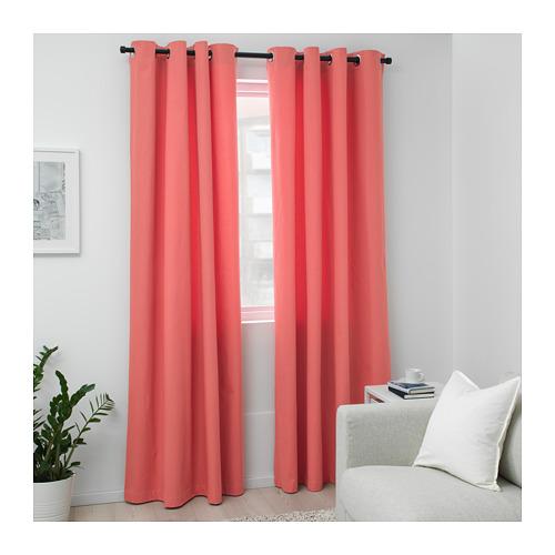 MERETE room darkening curtains, 1 pair