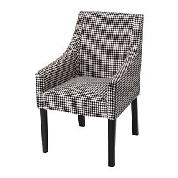 SAKARIAS - Chair with armrests, black/Vibberbo