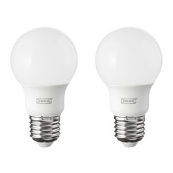 RYET - Bohlam LED E27 600 lumen, bulat putih opal