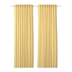 ANNALOUISA - Curtains, 1 pair, light yellow