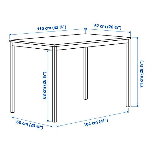 TÄRENDÖ - meja, hitam, 110x67 cm | IKEA Indonesia - PE815270_S4