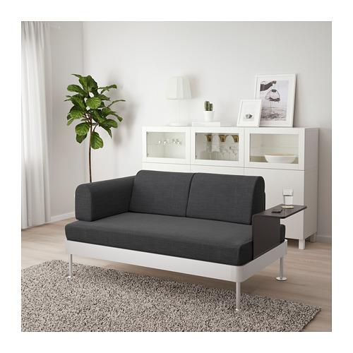 DELAKTIG sofa 2 dudukan dengan meja samping