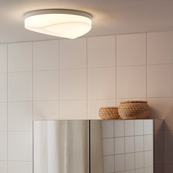 SVALLIS - Lampu plafon LED, dapat diredupkan/putih