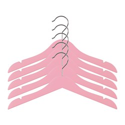 HÄNGA - Gantungan mantel anak, merah muda