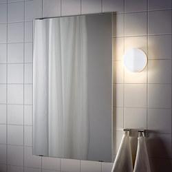 SVALLIS - Lampu dinding LED, dapat diredupkan/putih