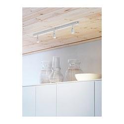 BÄVE - Trek plafon LED, 3 tempat lampu, putih