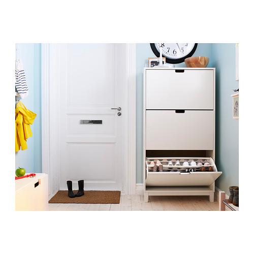 STÄLL shoe cabinet with 3 compartments