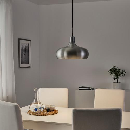 VÄXJÖ - lampu gantung, warna aluminium, 38 cm   IKEA Indonesia - PE760905_S4