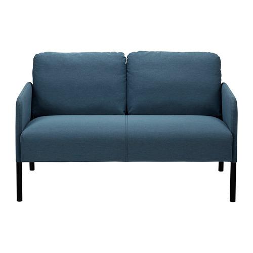 GLOSTAD - sofa 2 dudukan, Knisa biru medium | IKEA Indonesia - PE815495_S4