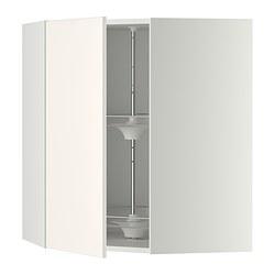 METOD - Kabinet dinding sudut dg karosel, putih/Veddinge putih