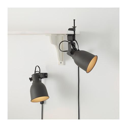 HEKTAR lampu sorot dinding/jepit