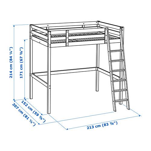 STORÅ loft bed frame