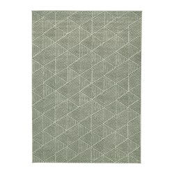 STENLILLE - Rug, low pile, green