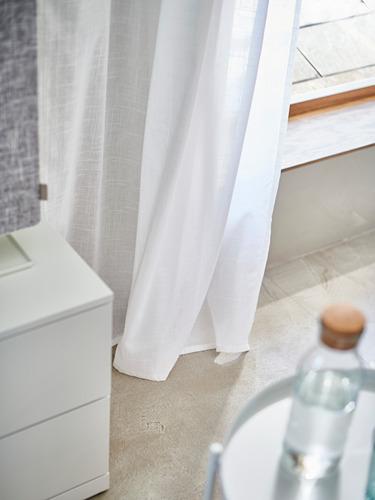 SILVERLÖNN - sheer curtains, 1 pair, white, 145x250 cm | IKEA Indonesia - PH175764_S4