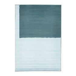 STILLEBÄK - Karpet, bulu tipis, biru