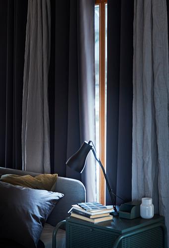 HILLEBORG - gorden anti tembus cahaya, 1 pasang, abu-abu, 145x250 cm   IKEA Indonesia - PH171033_S4