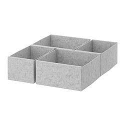 KOMPLEMENT - Kotak, set isi 4, abu-abu muda