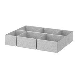 KOMPLEMENT - Kotak, set isi 6, abu-abu muda