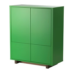 STOCKHOLM - Cabinet with 2 drawers, green