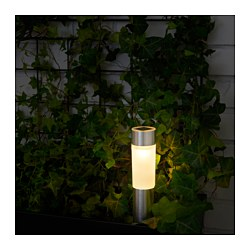 SOLVINDEN - LED solar-powered lighting, cylinder/aluminium-colour