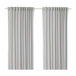 ANNALOUISA - Curtains, 1 pair, light grey