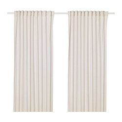 HANNALILL - Curtains, 1 pair, beige