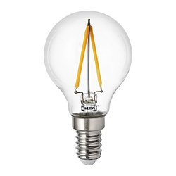 RYET - Bohlam LED E14 100 lumen, bulat bening