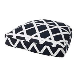 AVSIKTLIG - Bantal kursi, hitam/putih