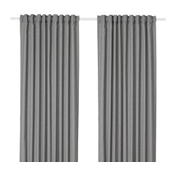HANNALENA - Room darkening curtains, 1 pair, grey