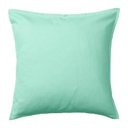 GURLI - Sarung bantal kursi, hijau toska terang, 50x50 cm