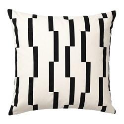 KINNEN - Sarung bantal kursi, putih/hitam