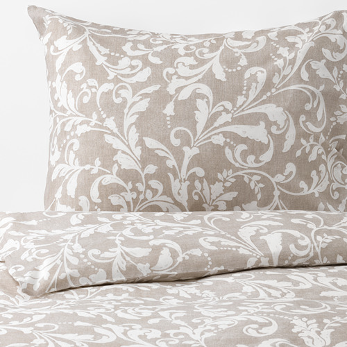 VÅRBRÄCKA quilt cover and 4 pillowcases