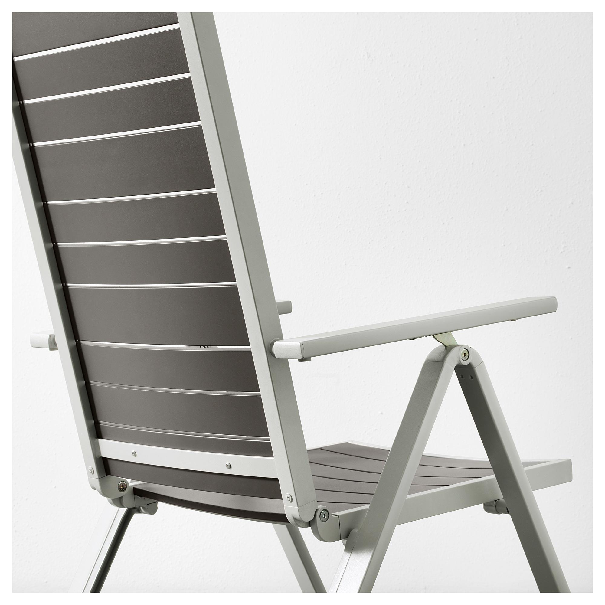 Sj 196 Lland Table 6 Reclining Chairs Outdoor Dark Grey