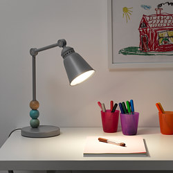 LANTLIG - LED work lamp, grey