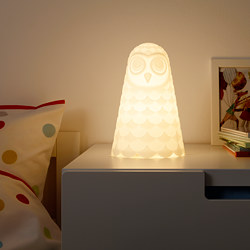 SOLBO - LED table lamp, white/owl