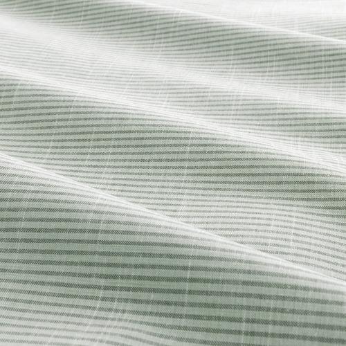 BERGPALM - sarung duvet dan sarung bantal, hijau/garis-garis, 150x200/50x80 cm | IKEA Indonesia - PE692784_S4