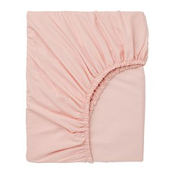 DVALA - Fitted sheet, light pink