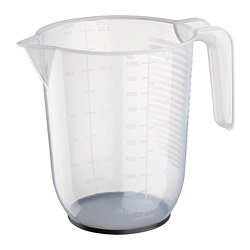 BEHÖVA - Measuring jug, transparent/grey