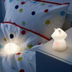 LURIGA - Lampu tidur LED, putih/rakun