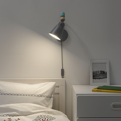 LANTLIG - LED wall lamp, grey