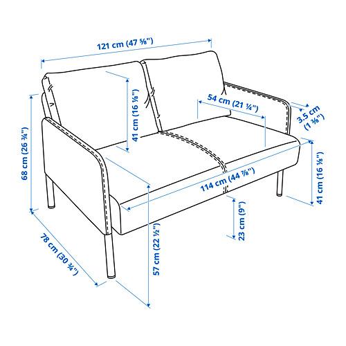 GLOSTAD - sofa 2 dudukan, Knisa biru medium | IKEA Indonesia - PE816016_S4