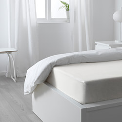 PUDERVIVA - Fitted sheet, white 90x200 cm