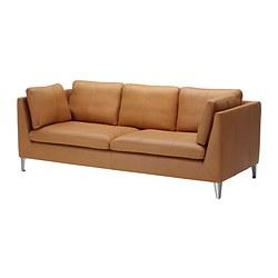 STOCKHOLM - Three-seat sofa, Seglora natural