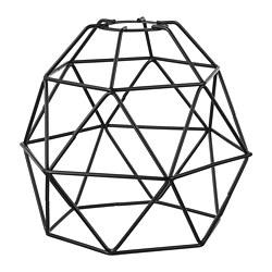 BRUNSTA - BRUNSTA, kap lampu gantung, hitam, 20 cm