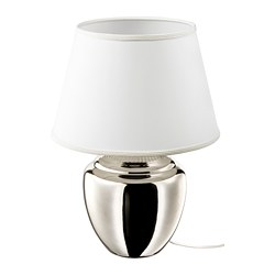 RICKARUM - Table lamp, silver-colour