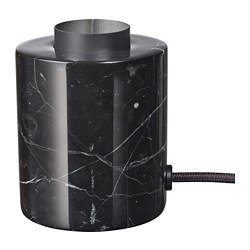 MARKFROST - Table lamp, marble black